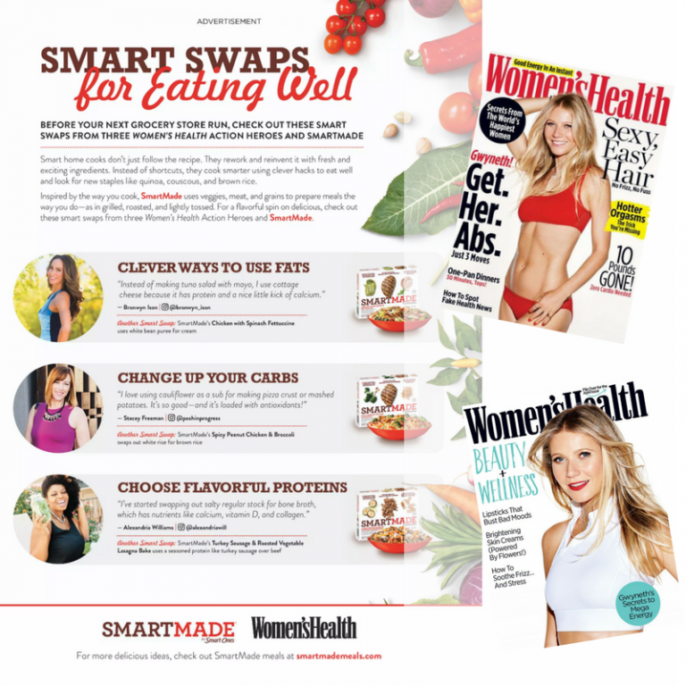 smart ones ad womens health magazine